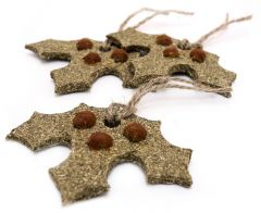 Gnawable Holly Leaves (3 pack)
