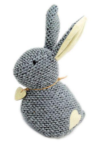 Rabbit Doorstop - Grey