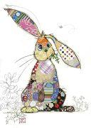 Binky Bunny - Gold Foil Embossed Card