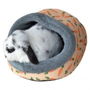 Carrot Plush Hooded Bed