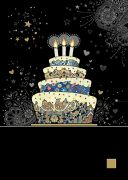 Decorative Cake - Foil Embossed Card