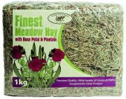 Finest Meadow Hay with Rose Petal & Plantain (Pure Pastures) - 1kg