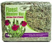 Finest Meadow Hay with Rose & Plantain (Pure Pastures) - 1kg