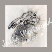 Hare (Dark Border) - Greeting Card