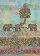Indian Elephants - Gold Foil Embossed Card
