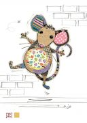 Molly Mouse - Gold Foil Embossed Card