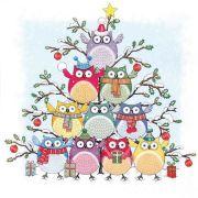 Tree of Owls Festive Napkins