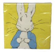 Peter Rabbit™ Contemporary 3-ply Yellow Paper Napkins - Peter Rabbit