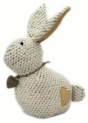 Rabbit Doorstop - Cream