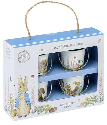 Classic Peter Rabbit - set of 4 Egg Cup Pails