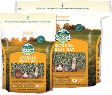 Oxbow Orchard Grass - Available in 425g and 1.1kg bags, plus 4.05kg, 11.36kg and 22.7kg boxes