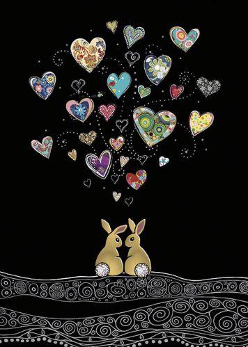 Love Bunnies - Foil Embossed Card