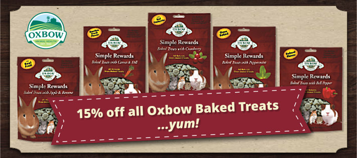 Tasty Oxbow Baked Treats - now 15% off!