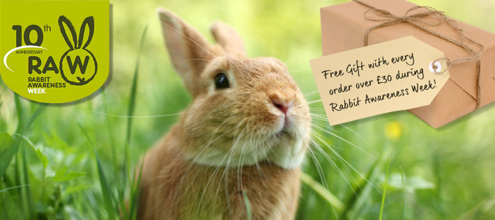 Free gift with orders over £30 during Rabbit Awareness Week!